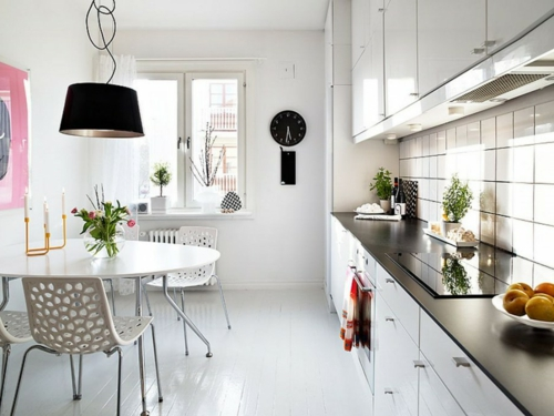 Einrichtungsideen schwedische Wohndeko küche esstisch
