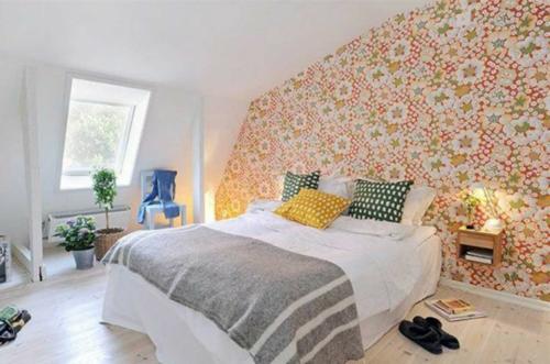 Einrichtungsideen für schwedische Wohndeko tapeten wand