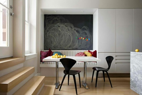 Esstisch mit Stühlen modern tafel wand kinder zeit