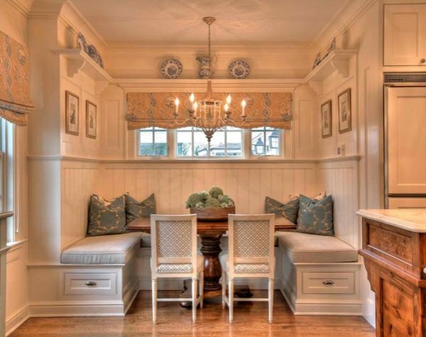 Esstisch mit Stühlen in der Küche - Gemütliche Essecke ...