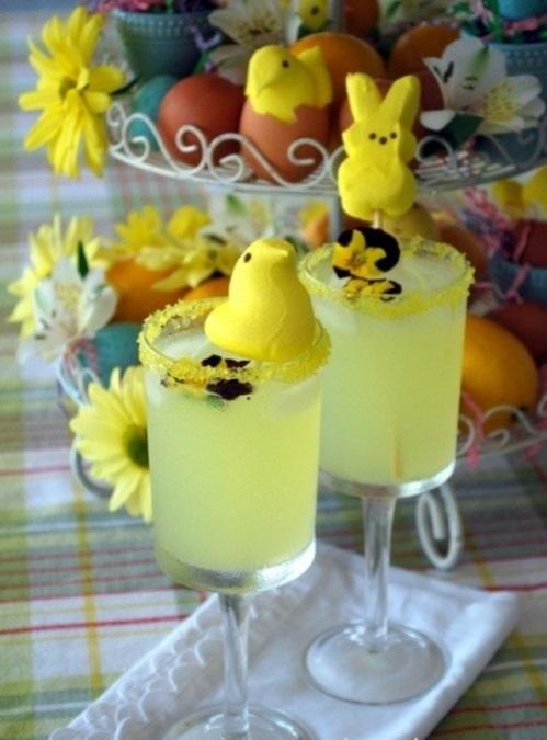 Festliche Dekoideen zu Ostern garten glas getränke