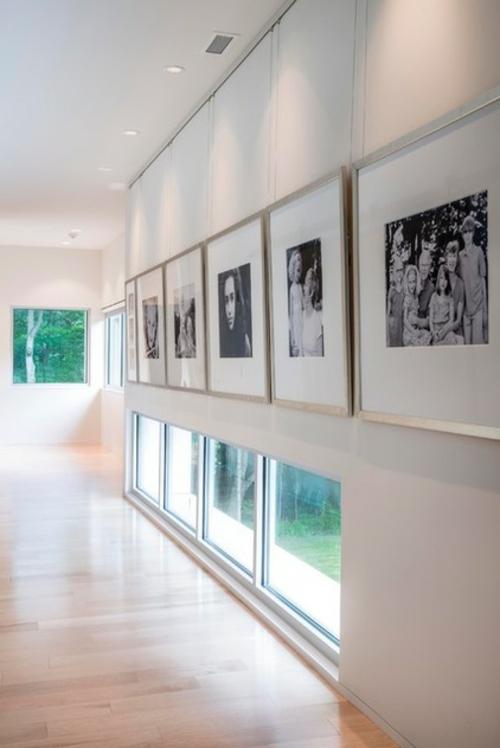 Fotowand mit Familienfotos gestalten galerie originell minimalistisch