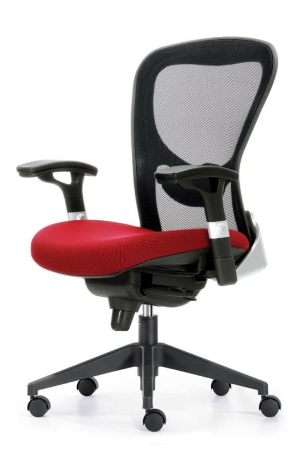 Günstige Bürostühle und Bürosessel schwarz rot sitzplatz
