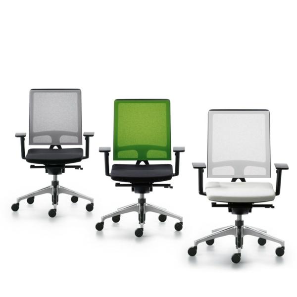 Günstige Bürostühle und Bürosessel schwarz weiß grün lehnen quadrat
