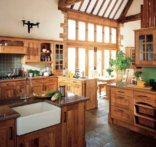 Gemütliche Küche im Landhausstil einrichten möbel