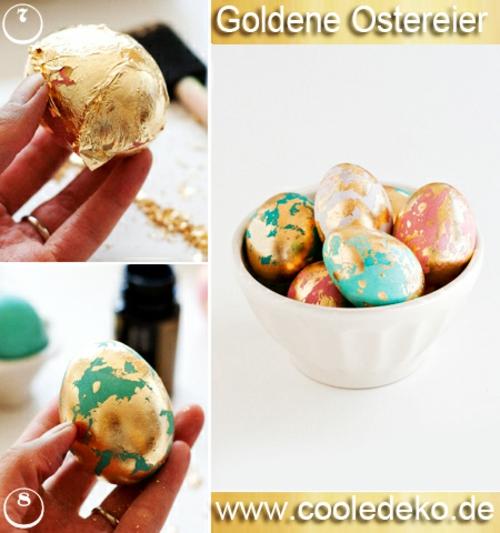 Goldene Ostereier selber schüssel