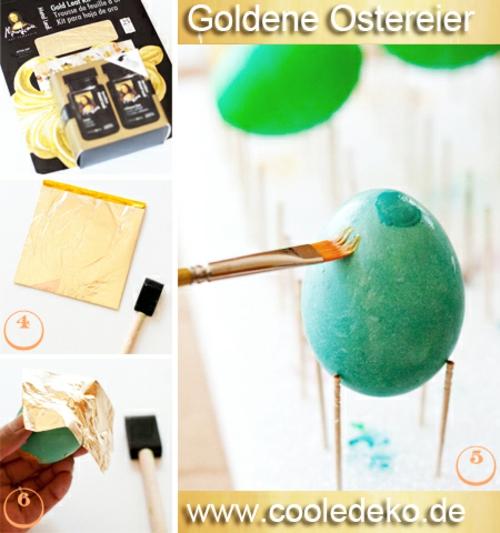 Goldene Ostereier selber basteln