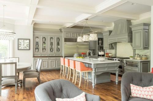 Innenarchitekt design küche rustikal gestaltet grau oberflächen
