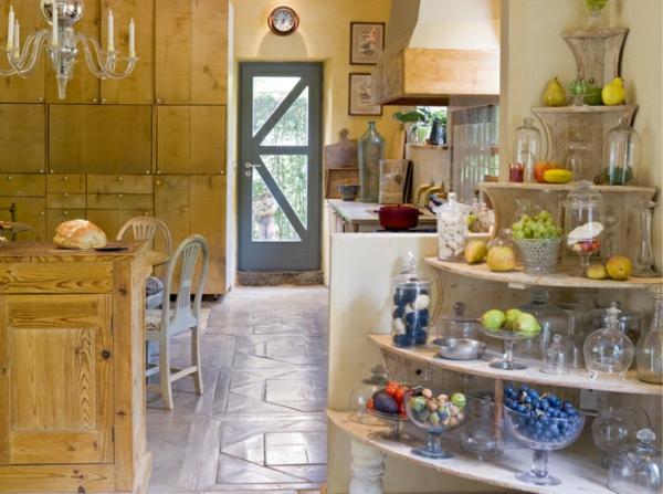Küchen Designs  Landhausstil esstisch stühle regale