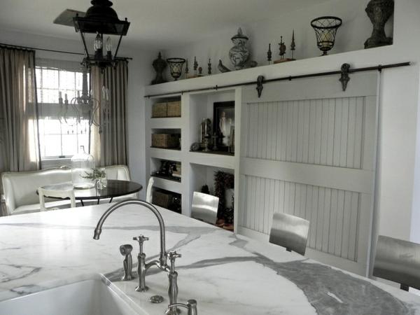 Küchen Designs im Landhausstil marmor spüle platte