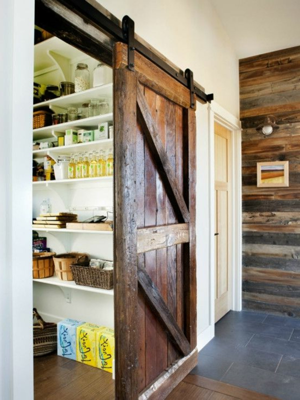 Küchen Designs Landhausstil massiv tür speisekammer