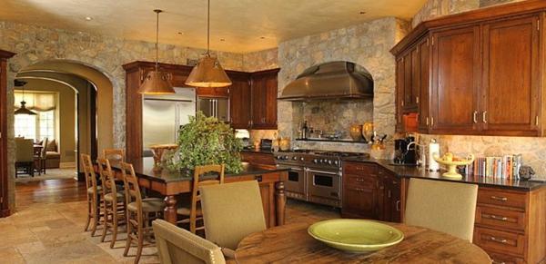 Küchen Designs Naturstein gestaltet esstisch stühle schubladen
