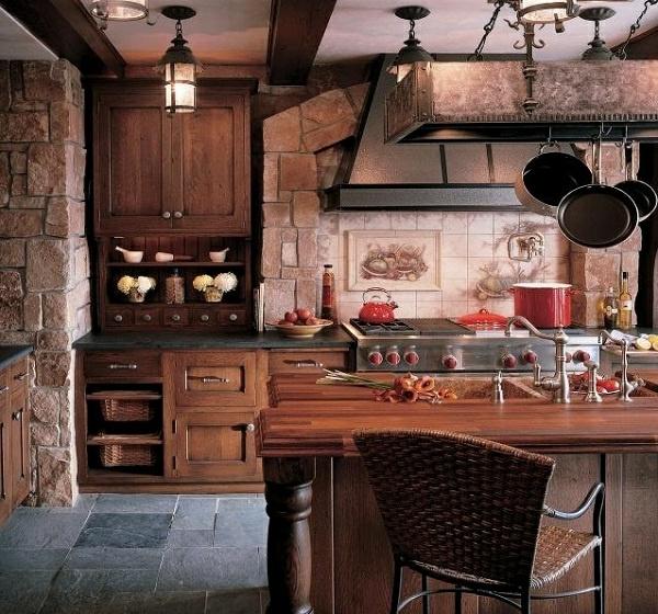 Küchen mit Naturstein gestaltet küchenrückwand fliesen