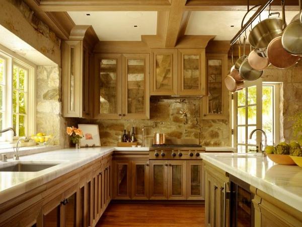 Küchen  mit Naturstein gestaltet mobiliar küchenschrank