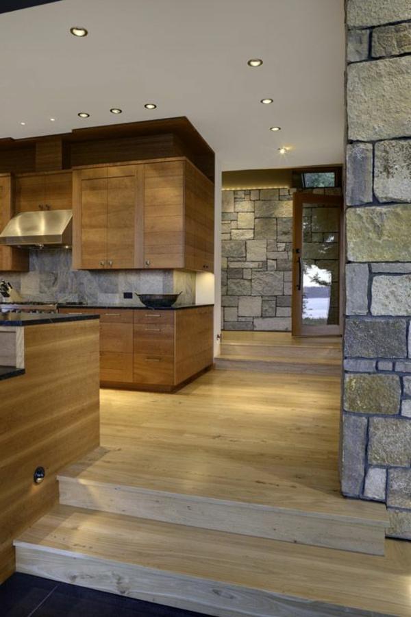 Küchen Designs mit Naturstein  offen raum