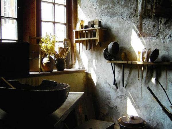 Küchen Designs mit Naturstein gestaltet rustikal außergewöhnlich