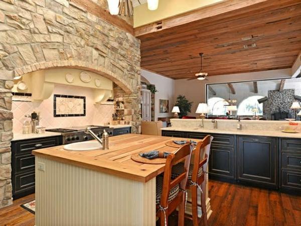Küchen Designs mit Naturstein kochinsel spüle
