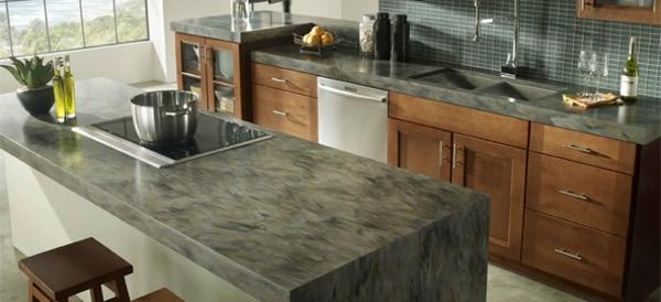 arbeitsplatte eiche nachhaltig grau material holz Küchen