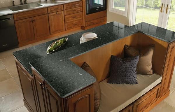 arbeitsplatte eiche sitbank rückseite wurfkissen Küchen