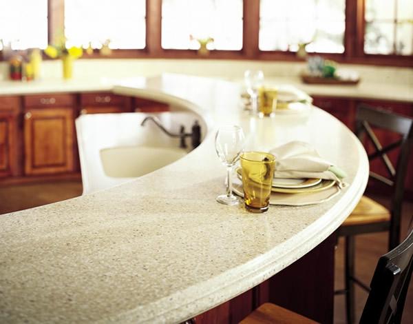 Küchenarbeitsplatte granit gewunden spüle essen