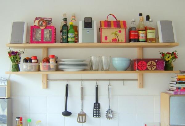 Küchenschrank  Küchenregal organisieren farben rosa leuchtend