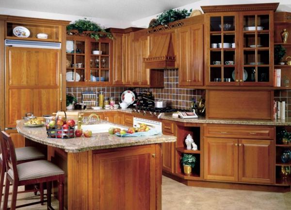 Küchenschrank und Küchenregal organisieren holz einrichtung