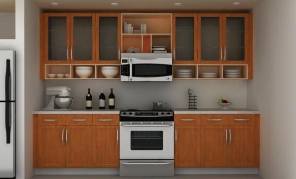 Küchenschrank  Küchenregal organisieren holz herd ofen