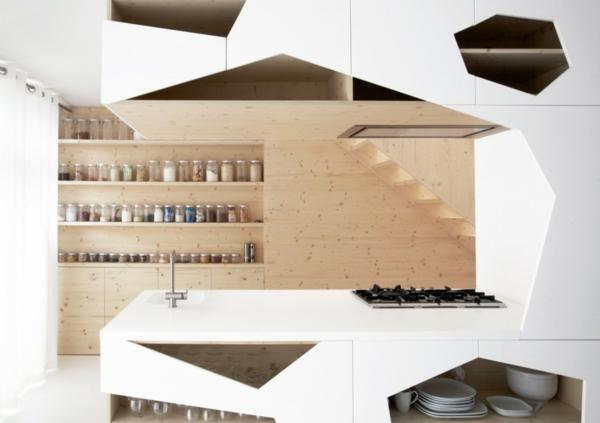 Küchenschrank und Küchenregal organisieren modern klassisch