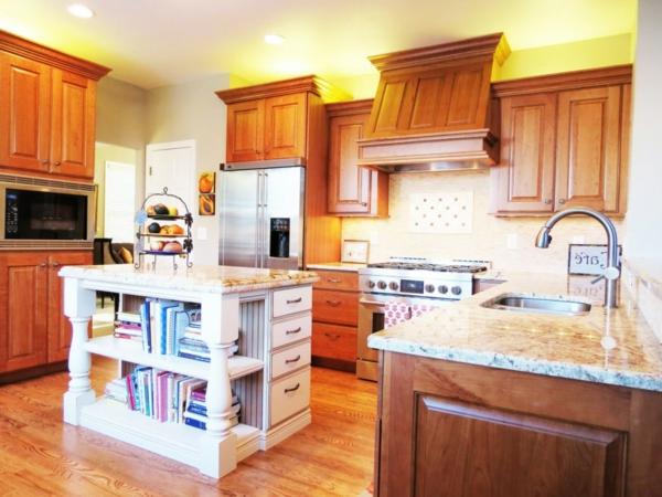Küchenschrank und Küchenregal organisieren rustikal küche