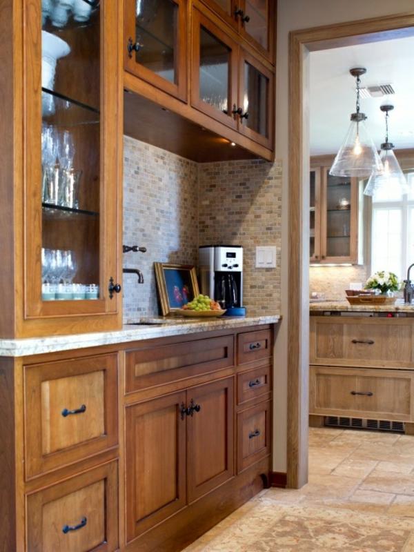 Kaffeebar Küche gestalten küchenrückwand fliesen mosaik