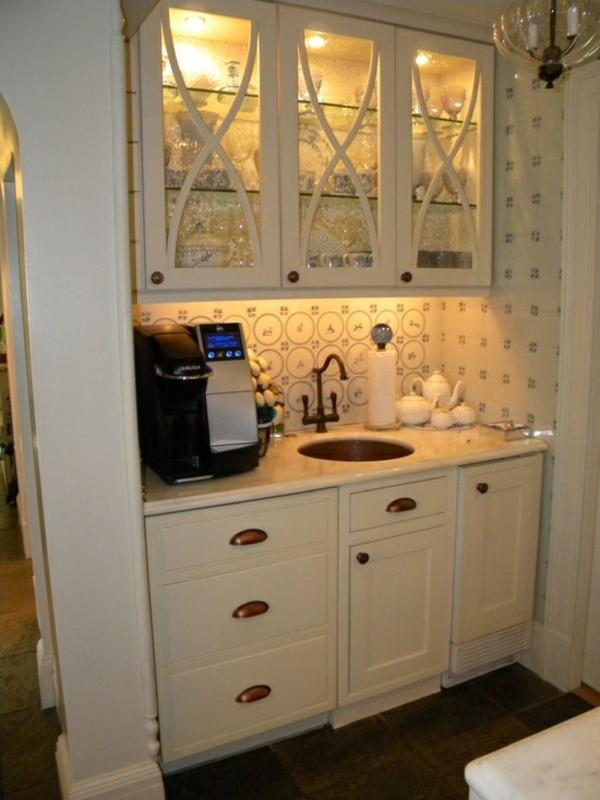 Kaffeebar Küche gestalten kaffeemaschine spüle