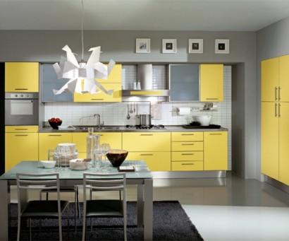 leuchtende gelbe k chen holen sie die sonne ins haus. Black Bedroom Furniture Sets. Home Design Ideas