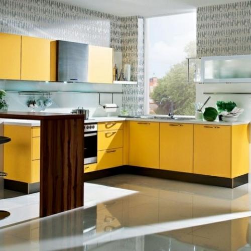 Leuchtende gelbe Küchen - Holen Sie die Sonne ins Haus !