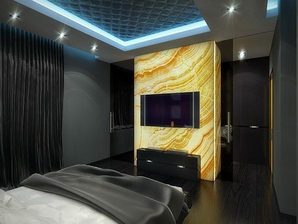 Luxus Apartment in Gelb und Schwarz strahlend trennwand