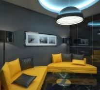 gewinnen awesome wohnzimmer gelb schwarz contemporary home design ...