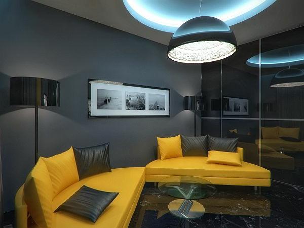 design : wohnzimmer gelb schwarz ~ inspirierende bilder von, Modernes haus