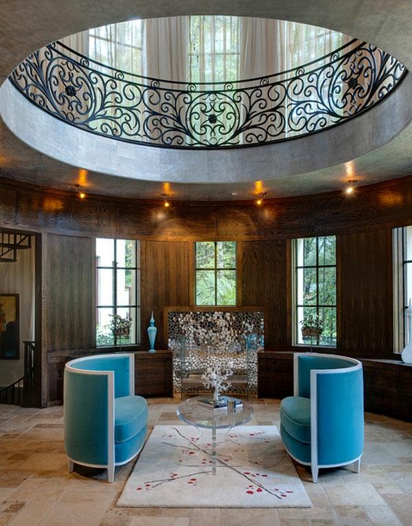 Möbel fürs Wartezimmer gepolstert bequem sofa blau