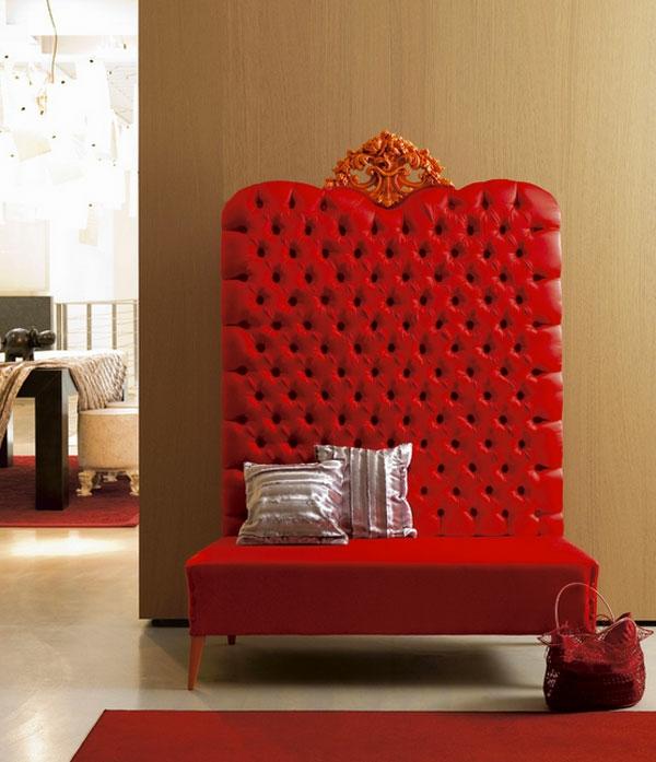 Möbel fürs Wartezimmer gepolstert bequem sofa rücklehne königlich