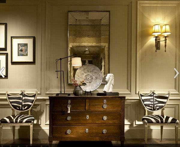 Möbel fürs Wartezimmer gepolstert tiermuster stuhl kommode