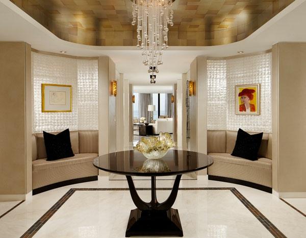 Möbel fürs Wartezimmer tisch dekorativ beleuchtung kronleuchter