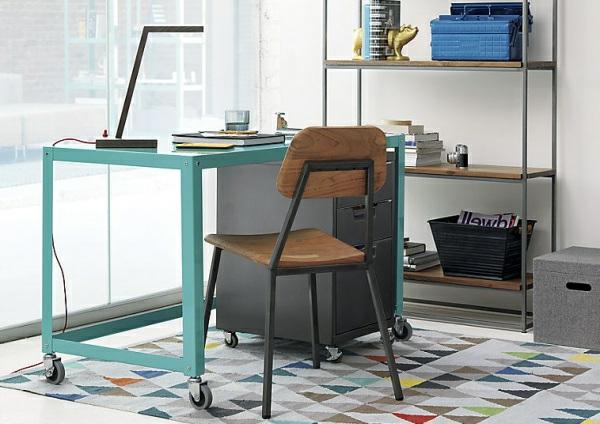 Möbel und Dekoideen schreibtisch holz stuhl rollen