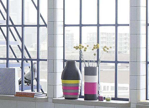 Möbel und Dekoideen vasen streifen bunt modern