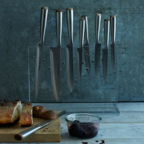 Messerblock für Küchenmesser glas
