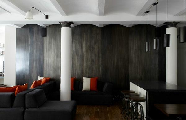 Metall-Akzente als Dekoration abstrakt kunstvoll design säule