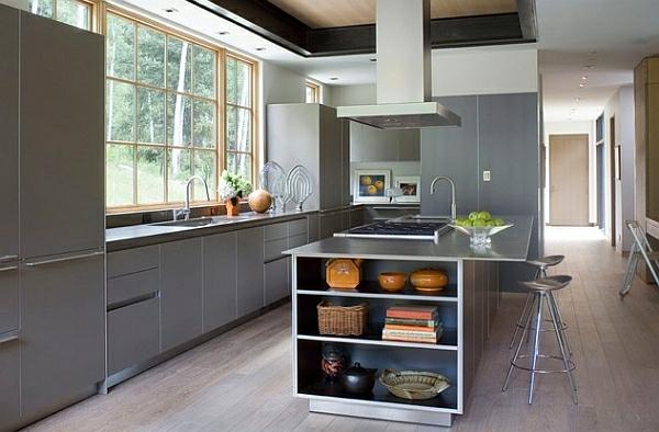 Metall-Akzente als Dekoration küche regale zimmer