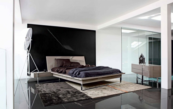 minimalistische schlafzimmer ideen betten aus teakholz. Black Bedroom Furniture Sets. Home Design Ideas