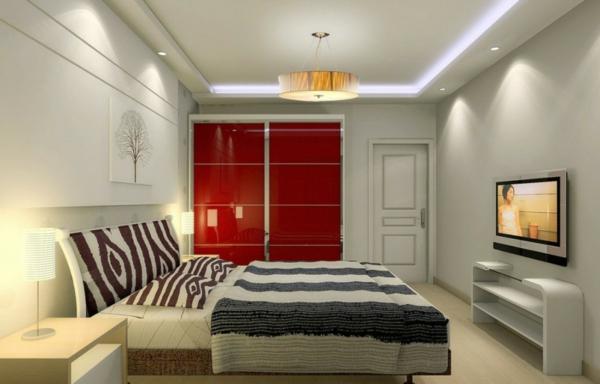 Minimalistische  Schlafzimmer glanzvoll tiermuster motive