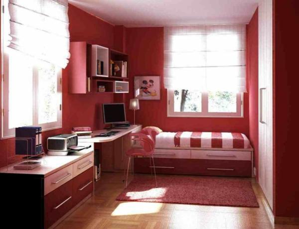 Minimalistische Schlafzimmer kinderzimmer rot elegant