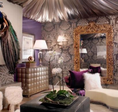 pfauenfedern deko im wohnzimmer - trends 2014 - Deko Trends 2014 Wohnzimmer