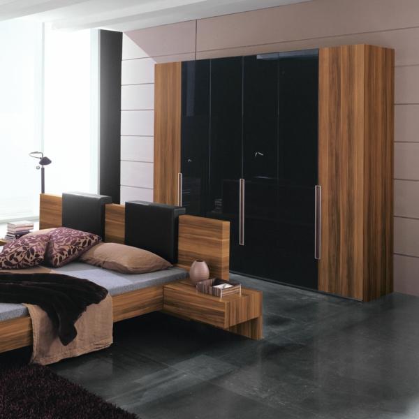 Trennwand Aus Holz Im Schlafzimmer: Moderne Kleiderschränke Und Garderoben